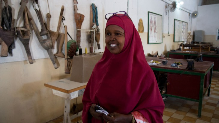 Somalia: Encouraged by colleagues, a woman heads Mogadishu rehab centre