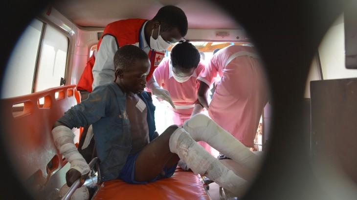 جنوب السودان : مداواة الجروح بعد انفجار صهريج نقل الوقود في ماريدي