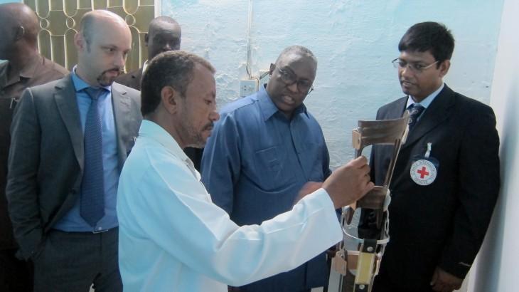 红十字国际委员会支援在苏丹新落成的假肢康复中心