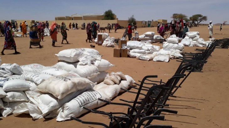 红十字国际委员会向13.8万面临粮食危机的苏丹民众派发食物、种子和农具