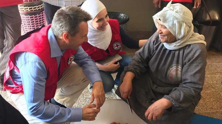 红十字国际委员会主席彼得·毛雷尔就叙利亚之行发表讲话