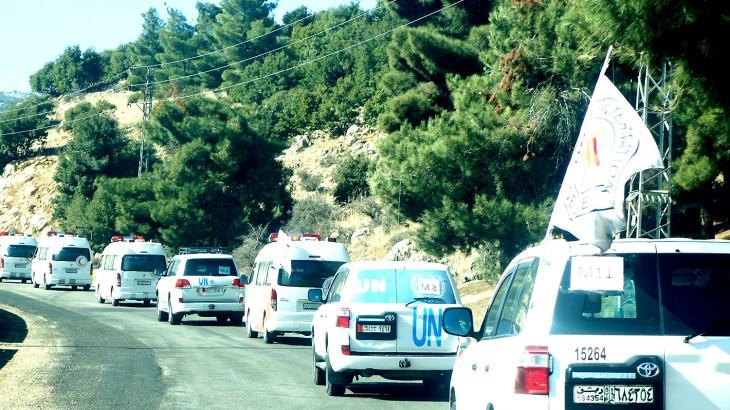 叙利亚:从难以到达的受困城镇中撤出伤员等450多人