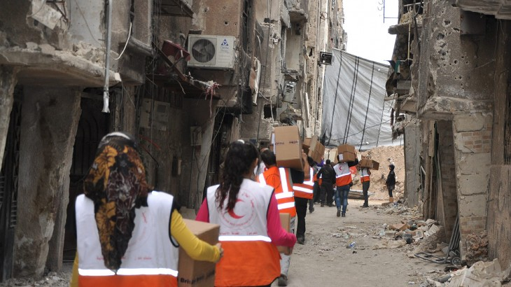 Syria: ICRC delivers urgently needed medical aid to Yarmouk camp