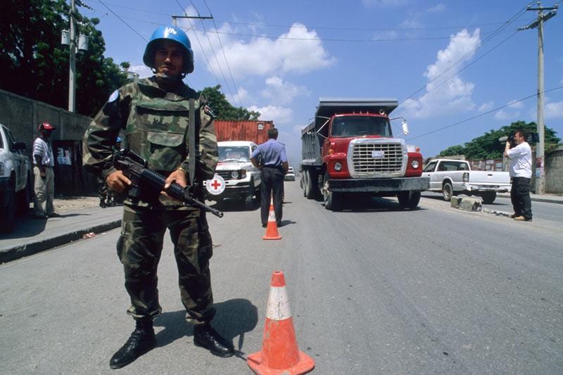 Haití, puesto de control de la MINUSTAH de la ONU, en la barriada de Cité-Soleil, en los suburbios de la capital Puerto Príncipe.