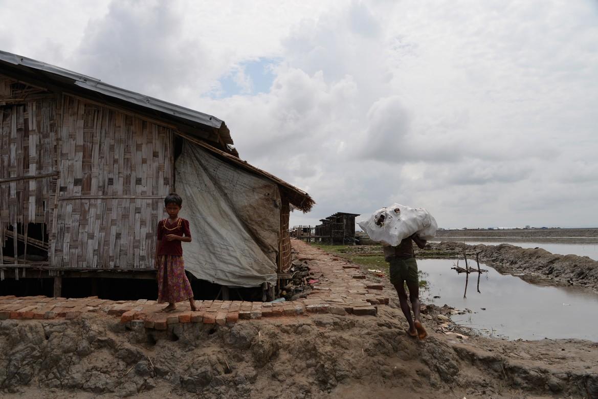 Campo de deslocados internos de Nget Chaung II, município de Pauktaw, estado de Rakhine, Mianmar.