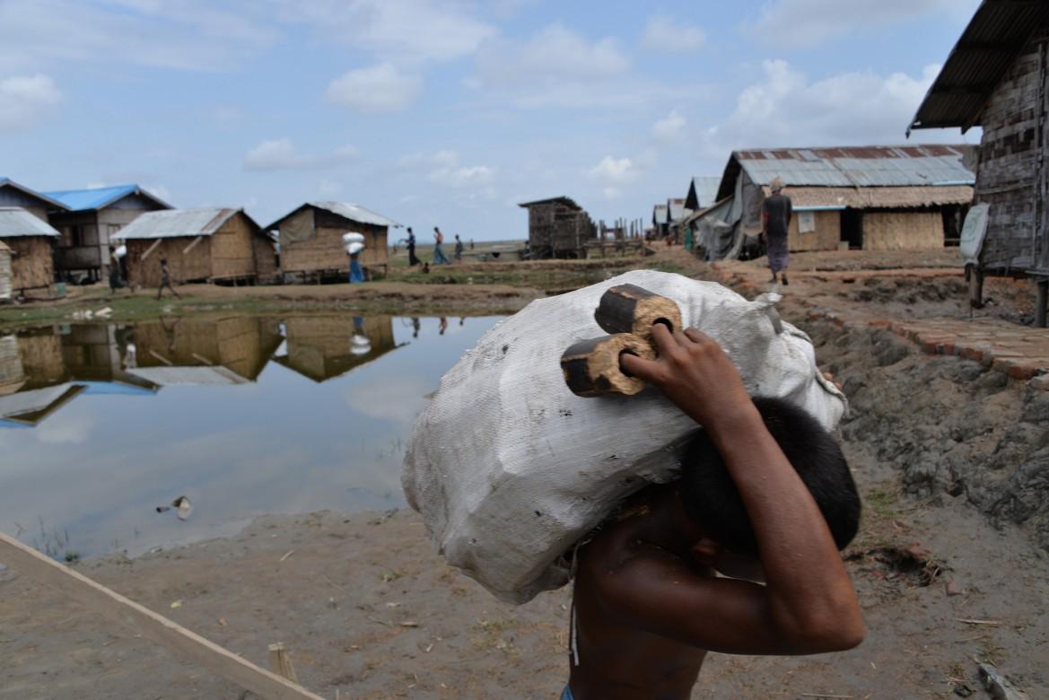 Camp de personnes déplacées de Nget Chaung II, Pauktaw, État de Rakhine (Myanmar)