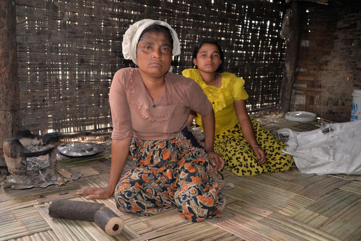 Camp de personnes déplacées de Taung Paw, Myebon, État de Rakhine (Myanmar)
