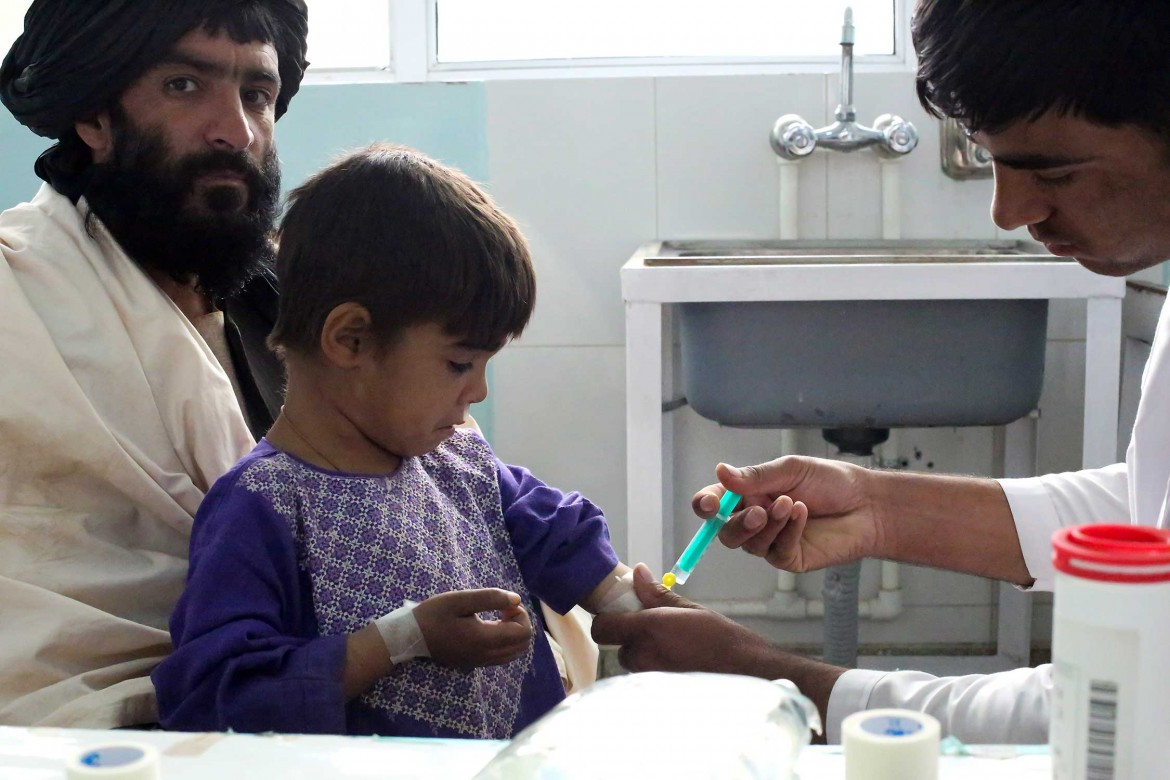 Pediatric ward of Mirwais Hospital in Kandahar, Afghanistan