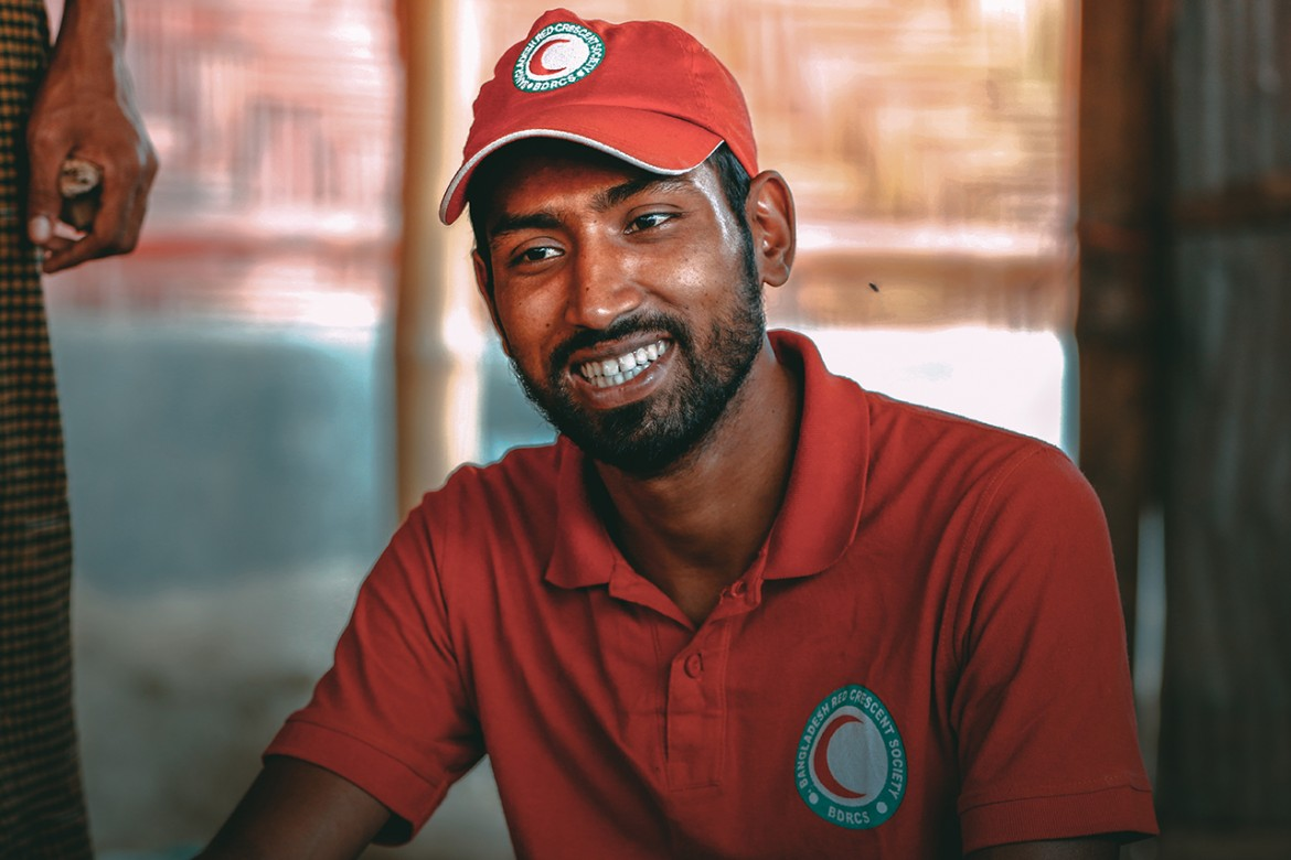 Saikat - Red Crescent volunteer