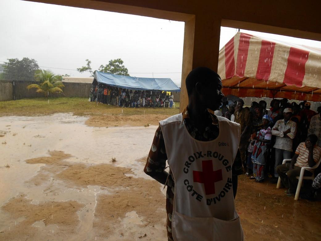 Camp de déplacés, Grabo, Côte d'Campamento de desplazados, Grabo, Côte d'Ivoire..