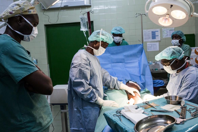 Hospital comunitario de Bangui.
