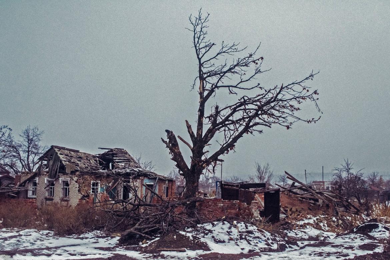 Semenovka, Ucrania, diciembre de 2014.