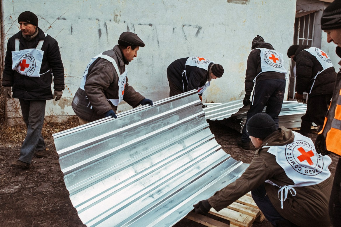 Shastye, en la región de Lugansk, diciembre de 2014.