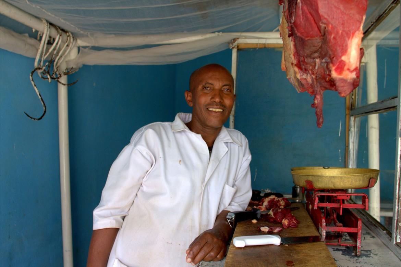 Birhane Tsehay, açougueiro