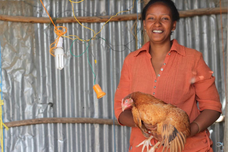 Selamawit Asmelash, dona de granja