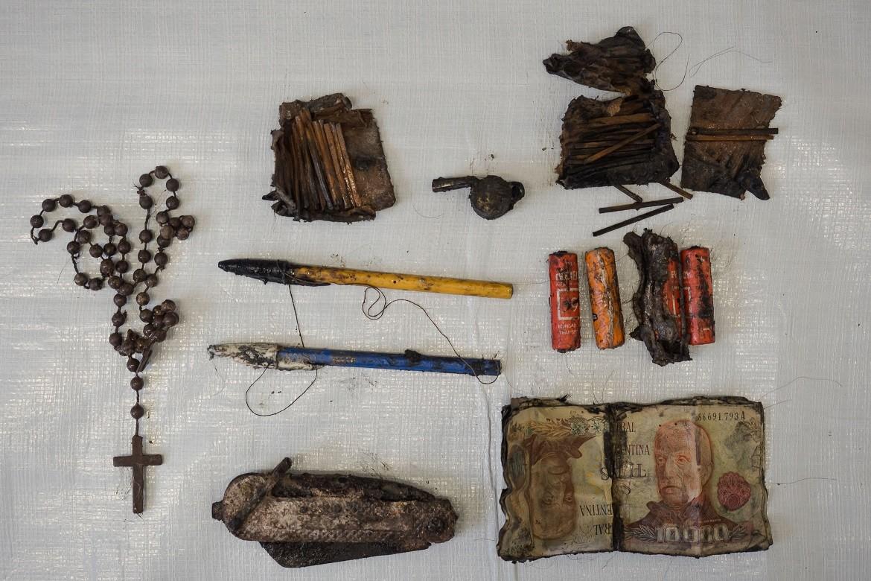 2017: Objetos pessoais de soldados sepultados