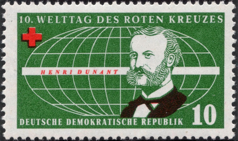 Германская Демократическая Республика, 1957 г. Анри Дюнан.