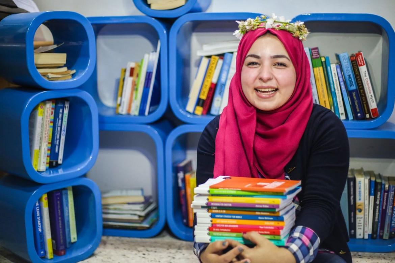 Heba El Hayek, 21. Estudante de inglês. Ela fundou o primeiro clube de debates na Faixa de Gaza.