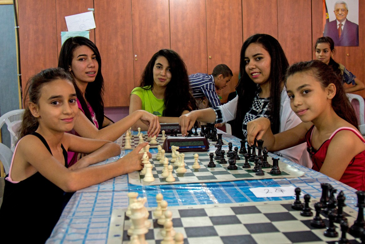 Sadien (left) is 12, and has been playing chess since she was 18 months old.