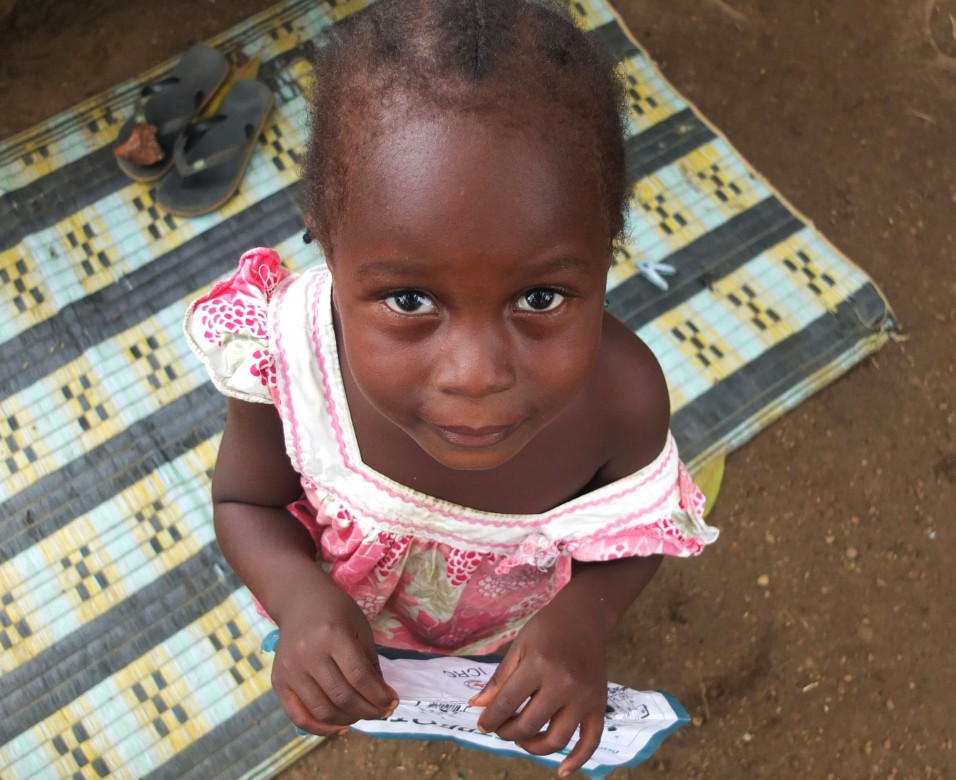 Faith Kaizolu (4) one of Jenneh's daughters.