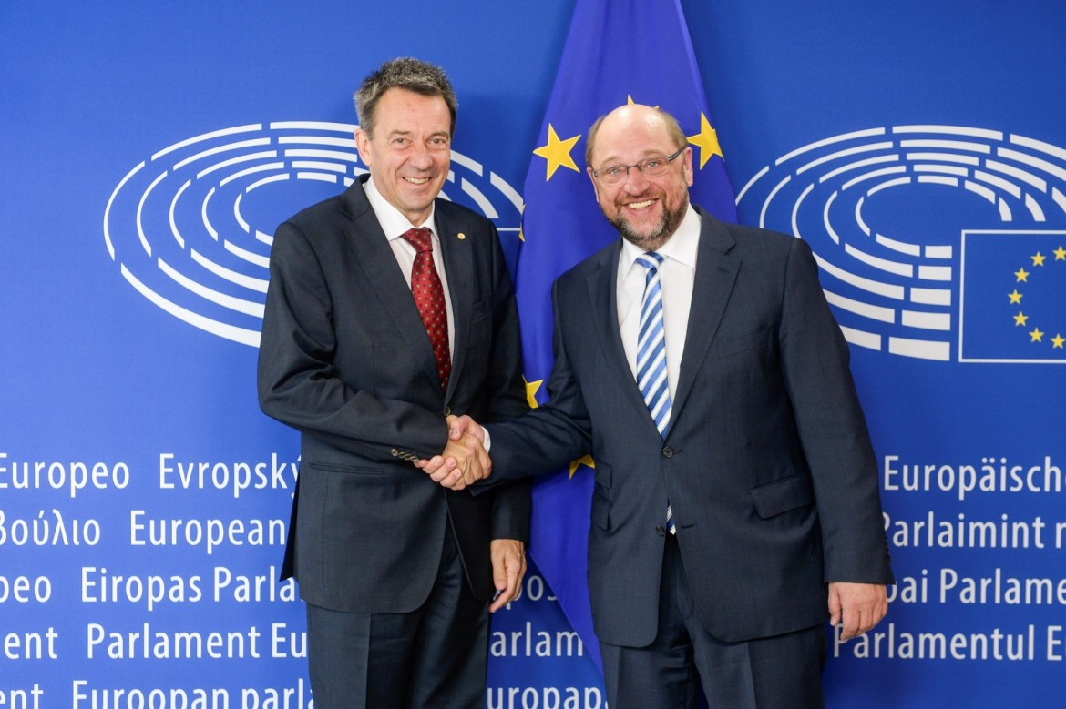 ICRC President Peter Maurer meets the President of the European Parliament Martin Schulz, 27 May 2015