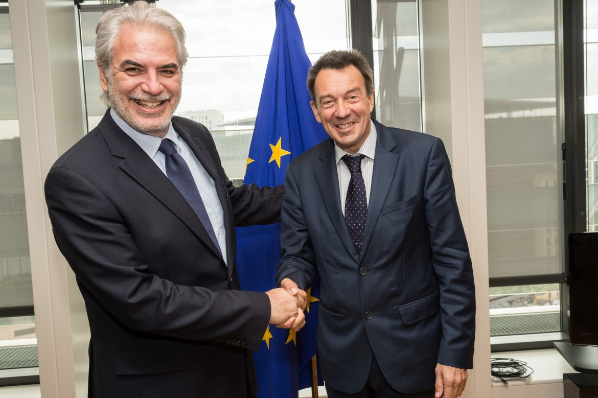 ICRC President Peter Maurer meets EU Commissioner for Humanitarian Aid Christos Stylianides, 26 May 2015