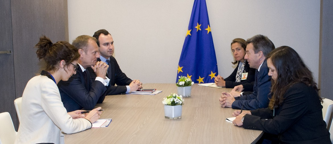 ICRC President Peter Maurer meets the President of the European Council Donald Tusk, 26 May 2015
