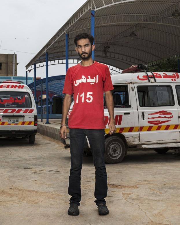 Mujadid Rehman, Edhi emergency services ambulance operator