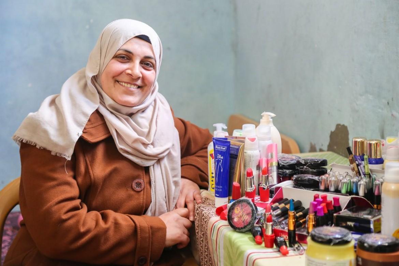 Nadera Abu Oweimer, 35. Mãe de cinco filhos. Diagnosticada com câncer quando tinha 28 anos e estava grávida.