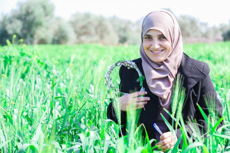 Nahed Abu Shbak, 43. Mãe de quatro crianças. Foi oficial de terreno para agricultura do CICV durante dois anos e meio.