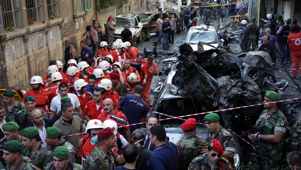 2012. Following an explosion in Beirut's Ashrafieh neighbourhood.