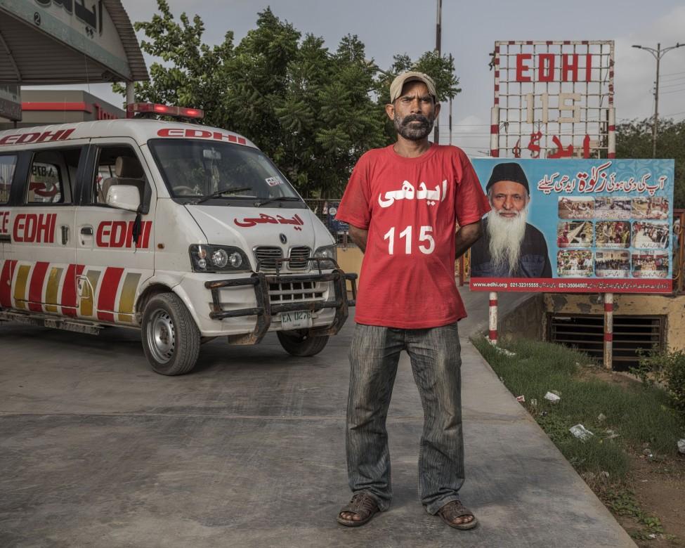 Mohammad Raja, ambulancier des services d'urgence d'Edhi