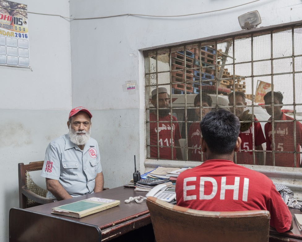 Mohammad Farooq, Baldia Town Station Head, Edhi Emergency Services