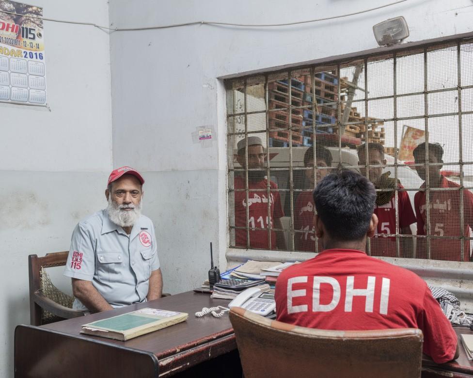 埃迪急救服务机构巴尔迪亚(Baldia)镇工作站主任穆罕默德•法鲁克