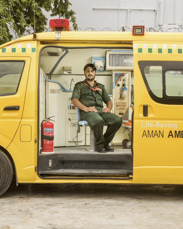 Sajid Ali, Emergency medical technician, Aman Ambulance Services
