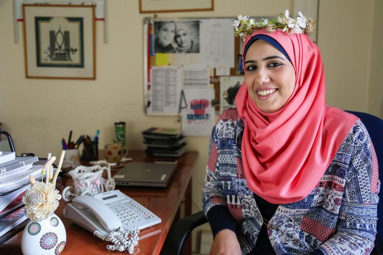 Shaymaa Almoamar, 27. Oficial de saúde do CICV em Khan Younis.