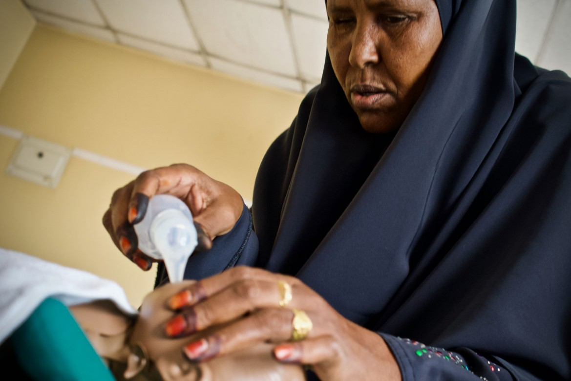 Barlin Cabdi Mohamed, 43, Bardhere, Gedo region. Experience as a midwife: 20 years