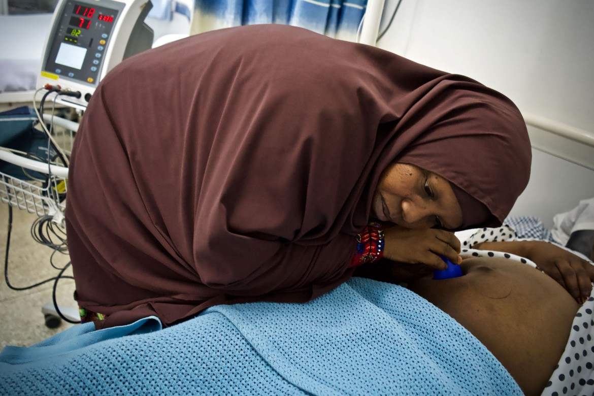 Ayni Osman Hiding, 44, Baidoa, Bay region. Experience as a midwife: Nine years