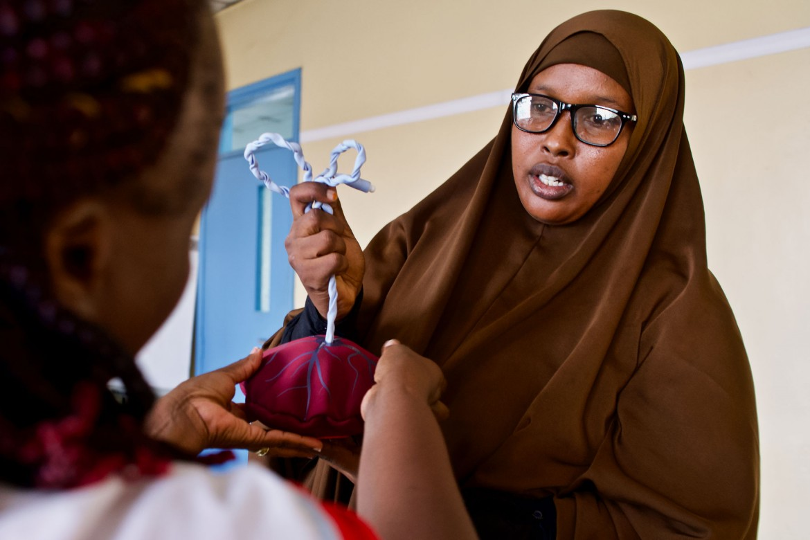Nadhifa Abukar Mohamed, 32, Mogadishu, Banadir region. Experience as a midwife: Six years