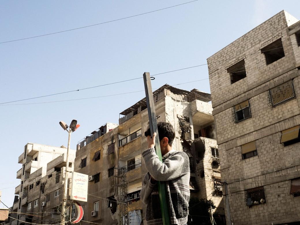 2016年2月25日,叙利亚,霍姆斯。