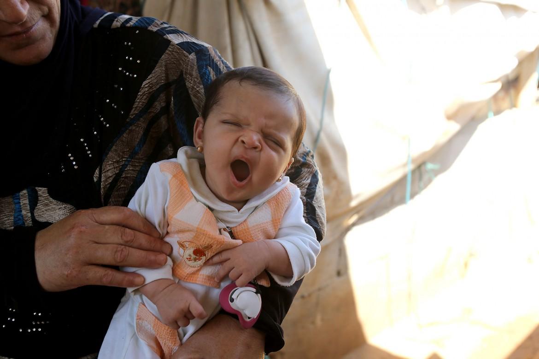 Campo de refugiados sírios em al-Sahel, Akkar, norte do Líbano.