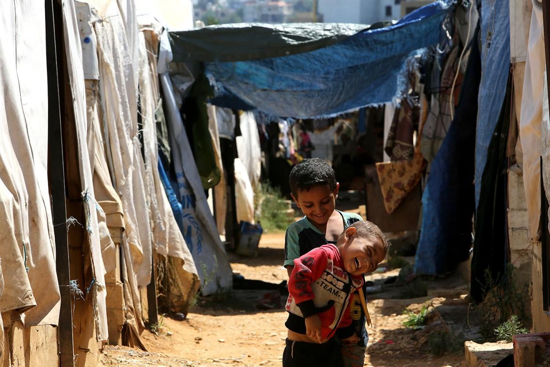 黎巴嫩北部,阿卡尔。萨赫勒地区的叙利亚难民营。