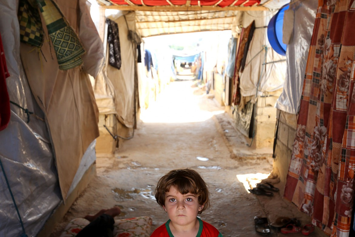 Syrian refugee camp in al-Sahel, Akkar, north Lebanon.