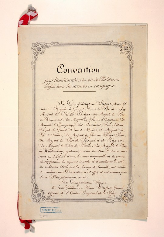1864: Geneva Convention