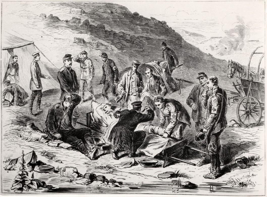1864年:保护受伤或患病的士兵