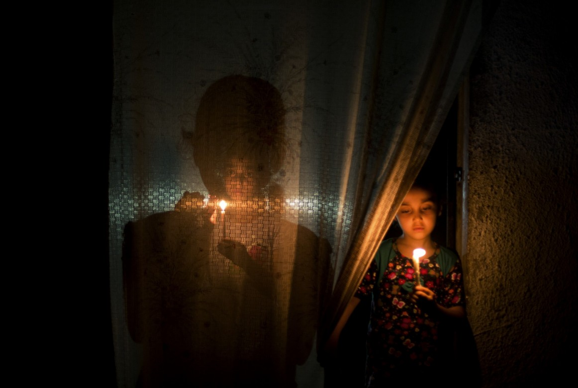 Darkness in Gaza