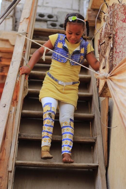 来自也门亚丁、8岁的萨米亚·马希尔·陶菲克(Samia Maher Tawfiq)