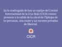 Hoy CICR estuvo presente a la salida de la cárcel de Tipitapa de 50 personas
