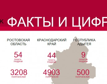 Факты и цифры: деятельность МККК на юге России, январь-июнь 2017 г.