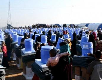 العراق: مساعدات غذائية وطبية للنازحين في الأنبار وصلاح الدين